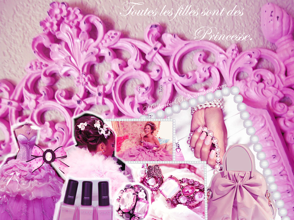 Pink princess wallpaper by mllebarbie03 on deviantart for Pink princess wallpaper