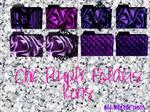 Chic purple folders icons