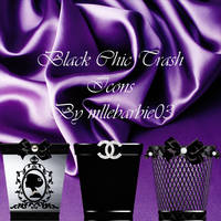 Black and Chic Trash icons by mllebarbie03