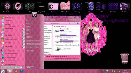 Pink Barbie Theme for Windows7 by mllebarbie03