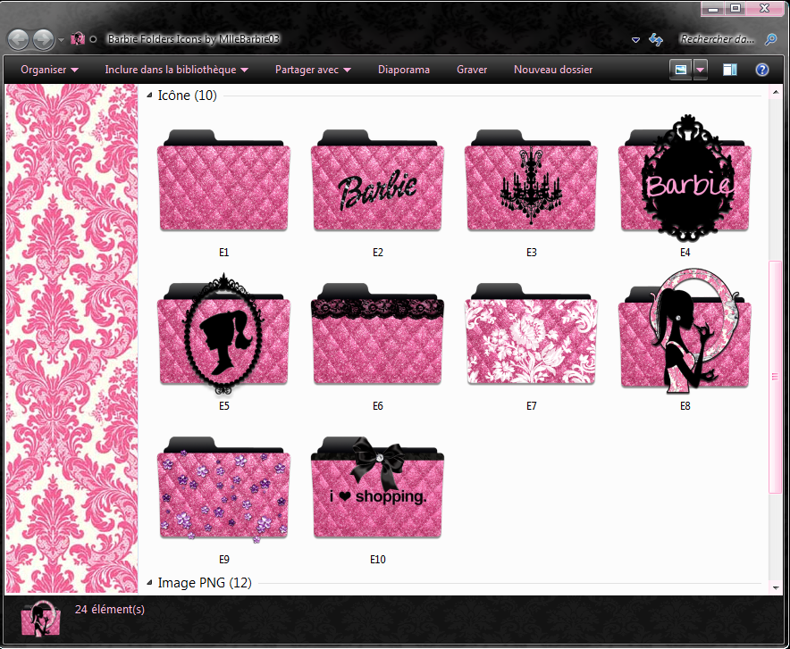 Barbie Folders Icons