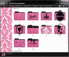 Barbie Folders Icons by mllebarbie03