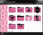 Barbie Folders Icons