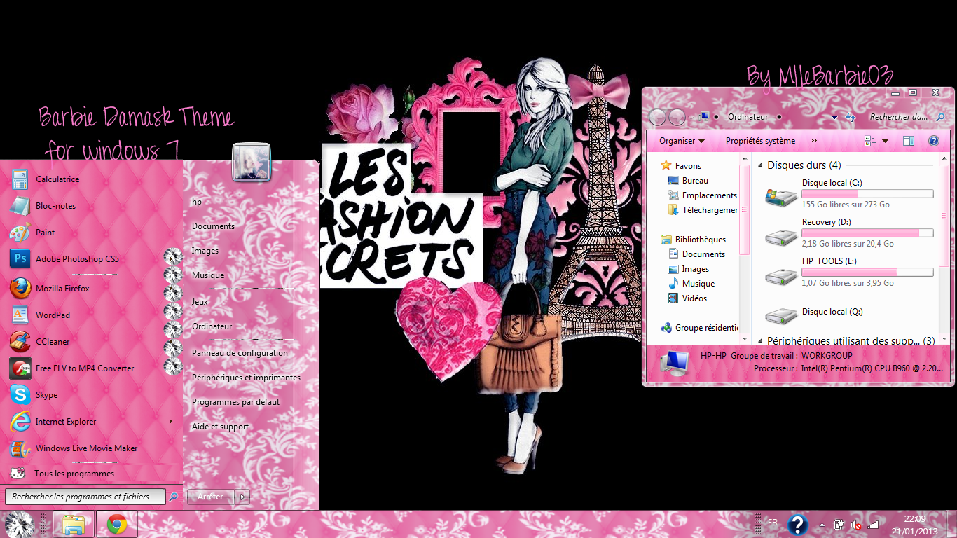 Barbie Damask Theme for Windows7 by mllebarbie03 on DeviantArt