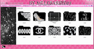 Chic Icons Folders by MlleBarbie03