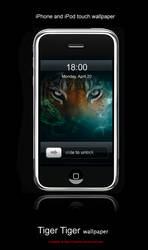 Tiger Tiger Iphone by Corwins
