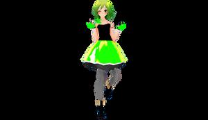 MMD TDA - Rave Girl Gumi DL
