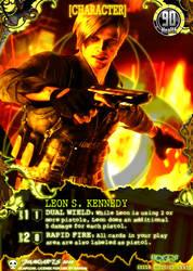 Leon S. Kennedy Resident Evil Promo Card by lakkurakku