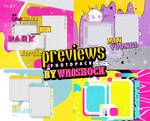 PREVIEWS PSD TEMPLATE PACK