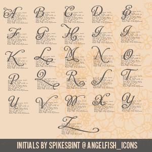 Initials by spikesbint