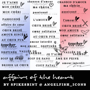French Text brushes