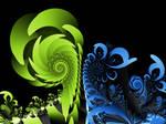 Spiralus Green-Blue