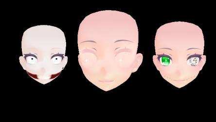 Creepypasta TFA Face textures (3 of them) by taffy122