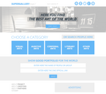 Home Page Super Gallery PSD Template