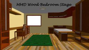 MMD Wood Bedroom Stage ~converted in sketchup~