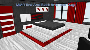 MMD Red And Black Bedroom Stage DL