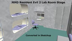 MMD Resident Evil 2 Lab Room Stage DL