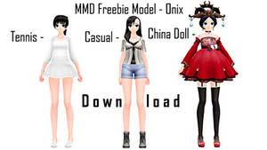 MMD Freebie Model for Download - Onix