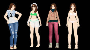 MMD Freebie Model for Download - Jazmine by xXFrenchToastXx