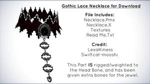 Gothic Lace Necklace for Download [MMD]