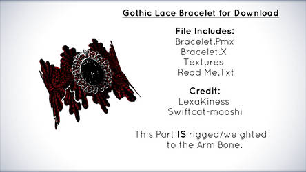 Gothic Lace Bracelet for Download [MMD]
