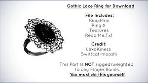 Gothic Lace Ring for Download [MMD]