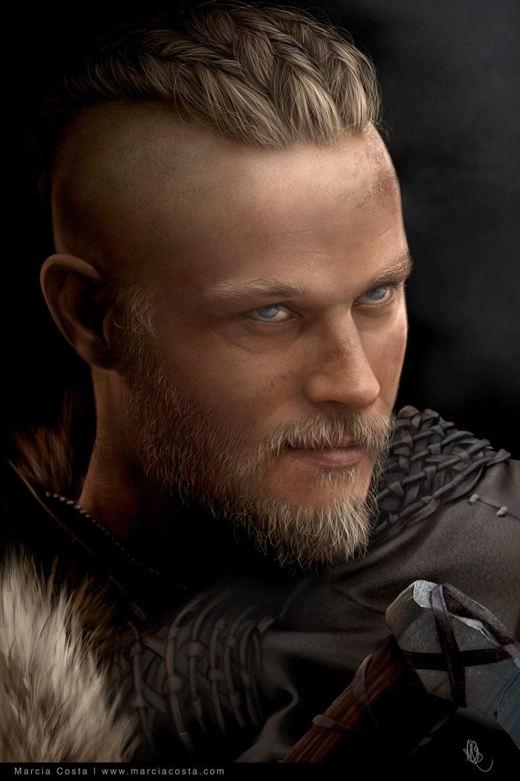 Ragnar Lothbrok portrait brushes by MCVisuals
