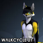 Walkcycle Commission - Dryden - Shorts Version