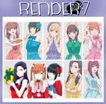 RENDER_PACK#7 - Oshi ga Budoukan Ittekuretara Shin by Fluorald