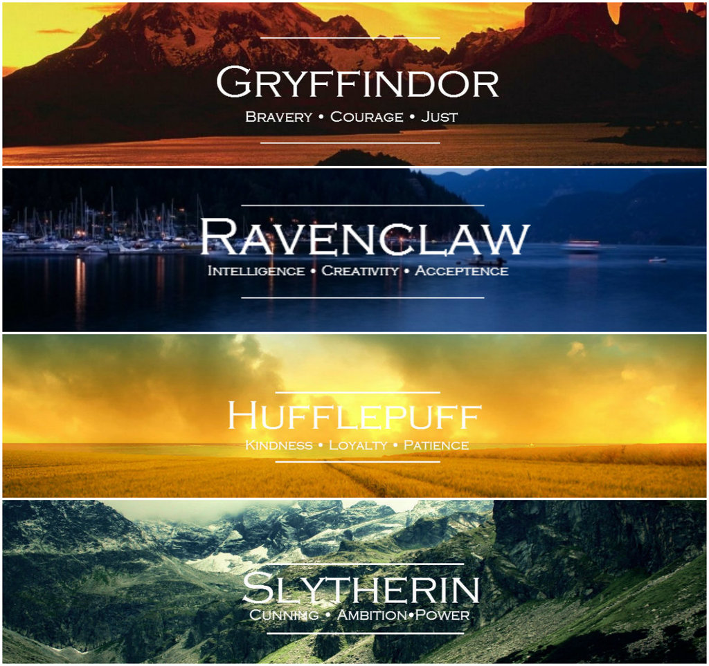 Hogwarts Houses By Louise5676 On Deviantart