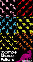 6 Simple Dinosaur Patterns for Photoshop
