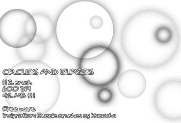 Circles and Ellipses brushset by pinkcamellia