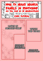 Manga Panels In PhotoShop by pinkcamellia