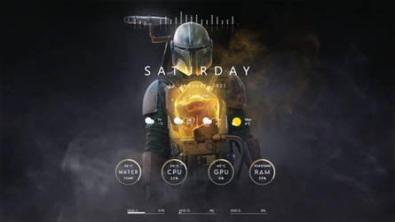 Mandalorian themed rainmeter skin by Godsgrav3