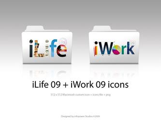 iWork iLife '09 folder icons by infopower