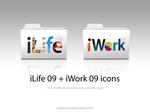 iWork iLife '09 folder icons