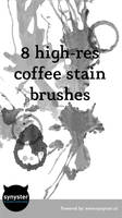 8 highres coffee stain brushes