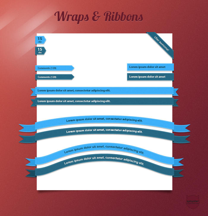 Wraps and Ribbons pack by synysternl