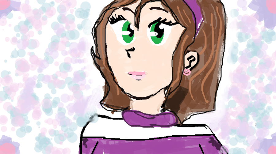 Brown Hair Short And Green Eyes Anime Character By