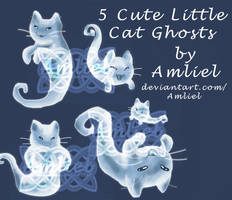 EXCLUSIVE 5 Cute Little Cat Ghosts