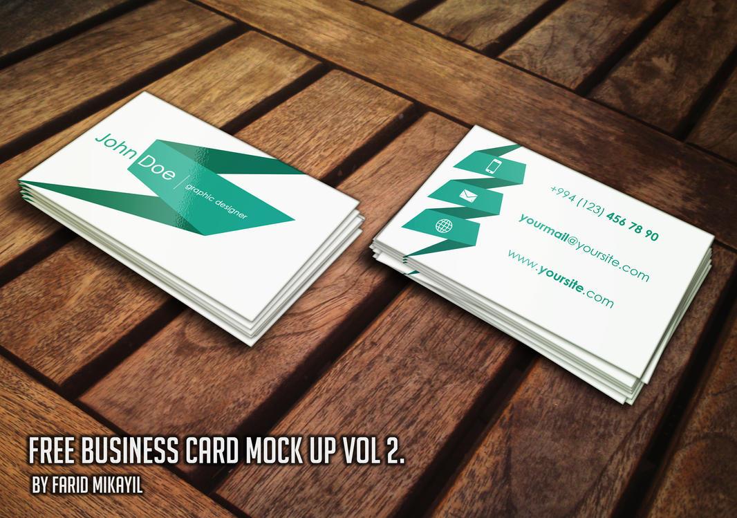 Free Business Card Mock Up Vol 2 by mikayilzade on DeviantArt