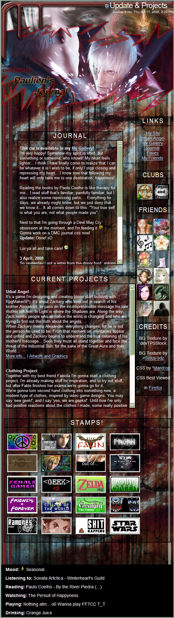 Devil May Cry Journal Css by stardrop
