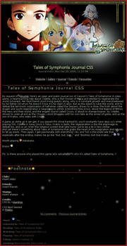 Tales of Symphonia Journal CSS