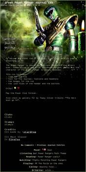 Green Power Ranger Journal Css
