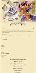 Pharaoh Atem Journal css by stardrop