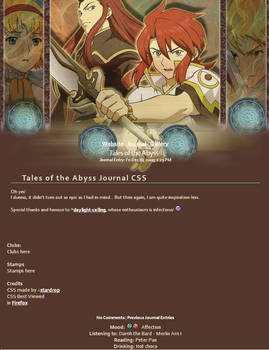Tales of the Abyss Journal CSS