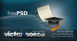 Graduation Icon Free PSD by victorsosea