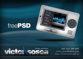 MP3 Player Free PSD by victorsosea