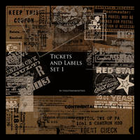 Tickets and Labels Brush Set by FidgetResources
