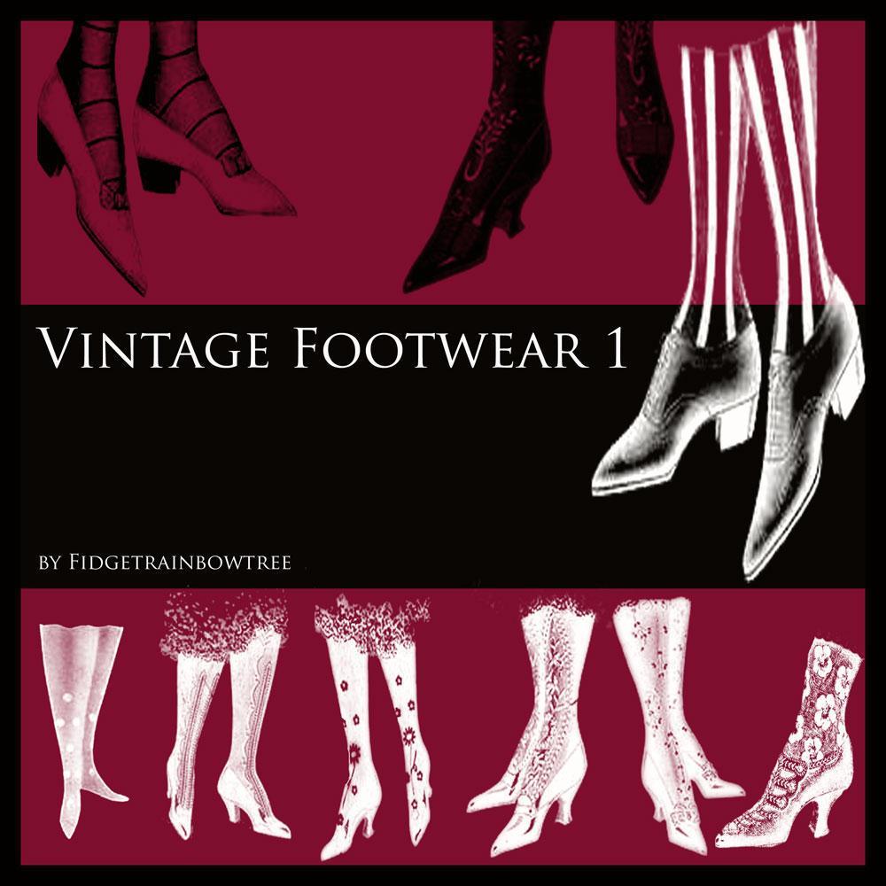 Vintage Footwear - Brush Set 1 by FidgetResources